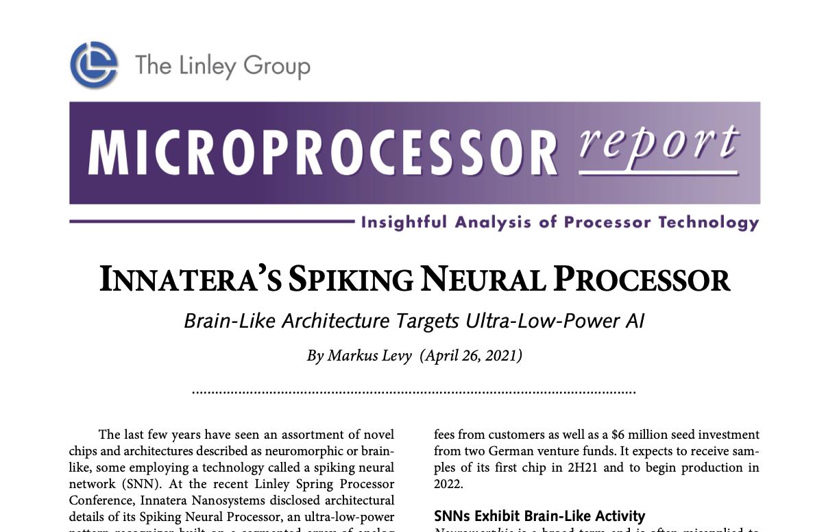 Microprocessor report on Innatera